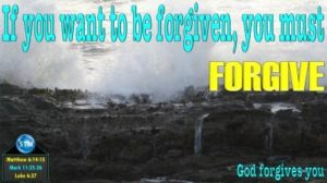 Picture of ocean waves hitting rocks for the god forgives you bible study