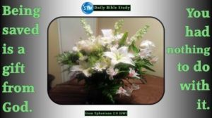 Picture of a floral bouquet for the daily Bible study Ephesians 2:8