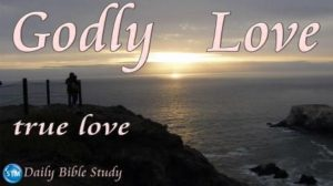 Picture of romantic ocean sunset for the daily Bible study page