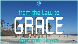 Picture of a great day at the beach for the law to grace bible study