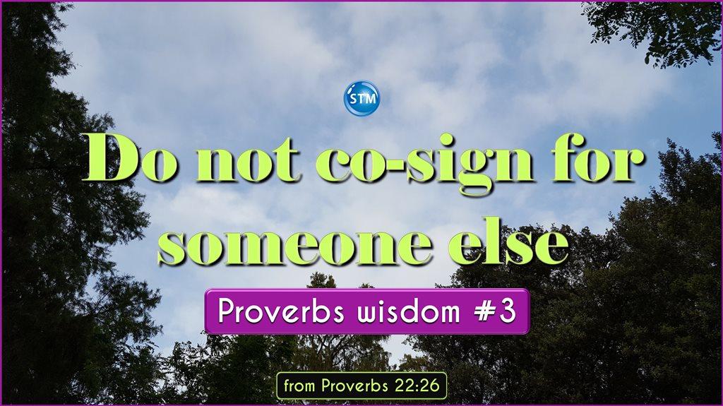 Proverbs Wisdom 3