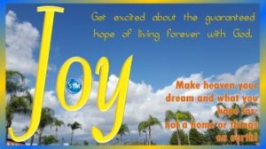 Picture of sunny-white clouds for the joy bible study
