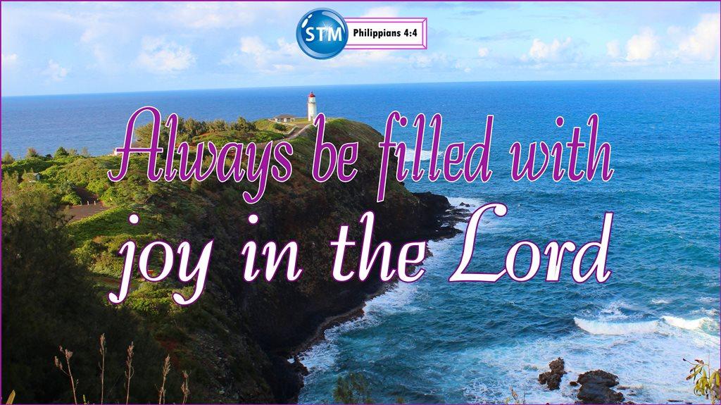 Joy - Philippians 4:4