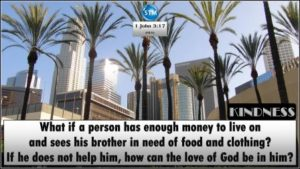 Picture of downtown Los Angeles for the kindness bs 1 John 3:17