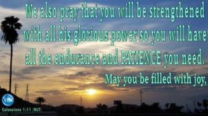 Picture of a beautiful sunset for the patience bible study Colossians 1:11