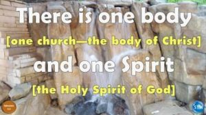 Picture of a waterfall for the holy spirit bible lesson Ephesians 4:4