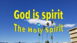 Picture of blue sky with large cumulus cloud for the holy spirit bible lesson