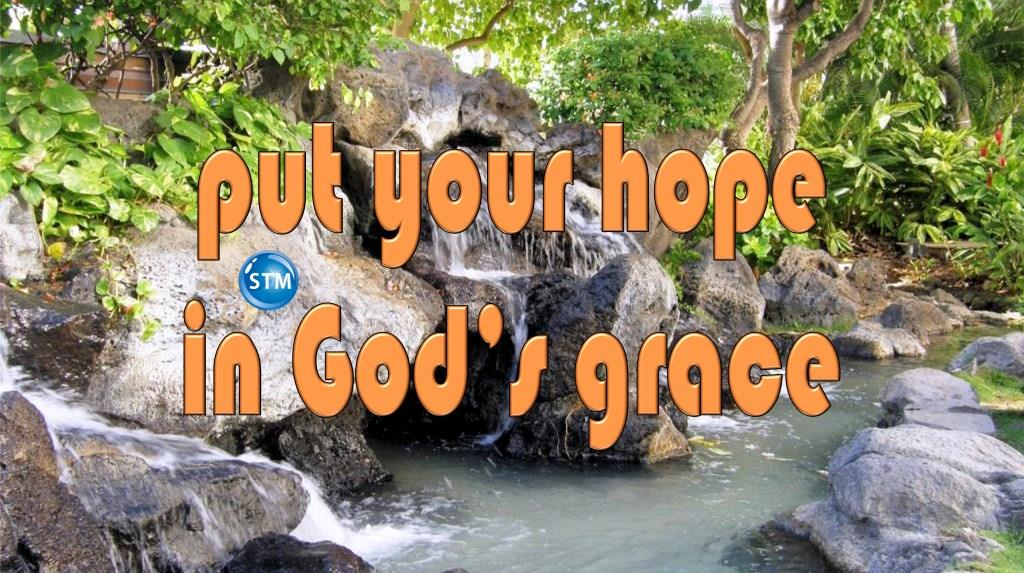 """Picture of waterfall at the beach for the """"your hope"""" bible lesson"""