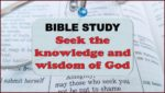 Picture of an open Bible for the Bible study collection page